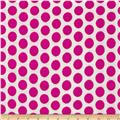 Basic Training Medium Dot White/Fuchsia