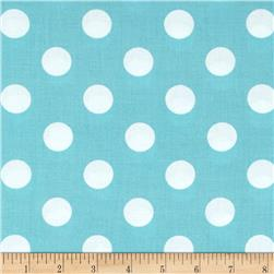 "Riley Blake 108"" Wide Medium Dots Aqua"