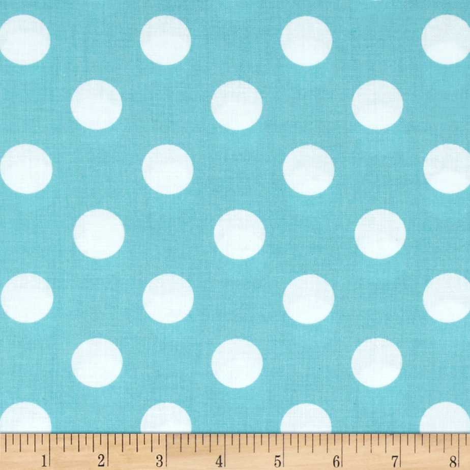 Riley Blake 108'' Wide Medium Dots Aqua Fabric