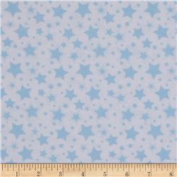 Dreamland Flannel Starry Night White/Dreamy Blue