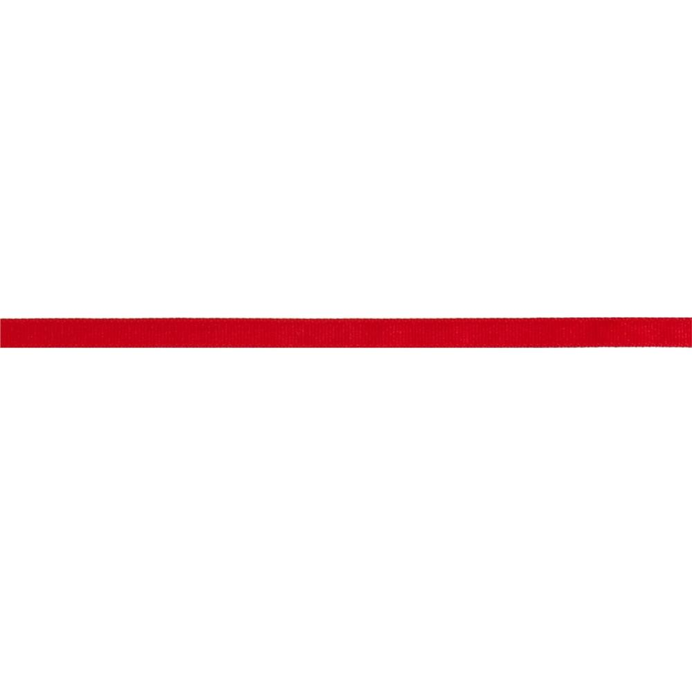 "3/8"" Grosgrain Solid Ribbon Red"