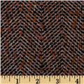Boucle Coating Herringbone Red/Black