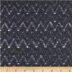 Novelty Lace Chevron Dark Grey