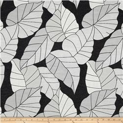 KasLen Clarence Leaves Jacquard Onyx Fabric