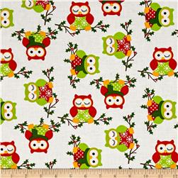 Owl Christmas Owls White