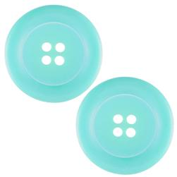 "Riley Blake Sew Together 2"" Matte Round Button Aqua"