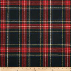 Washable Wool Plaid Black/Red