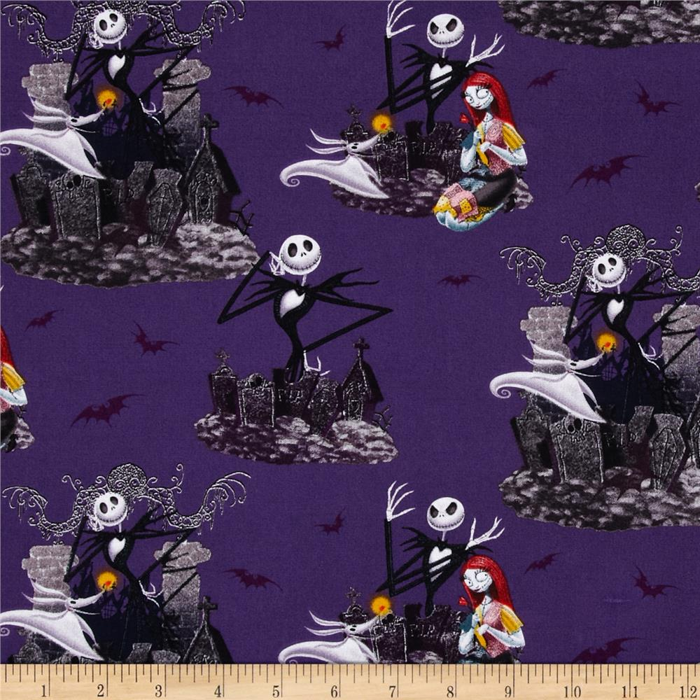 Nightmare before christmas allover purple discount designer fabric
