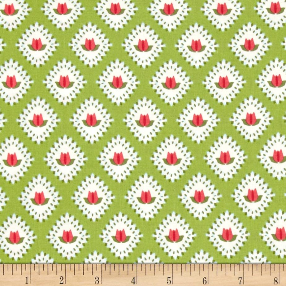 Riley Blake Floribella Tulip Green