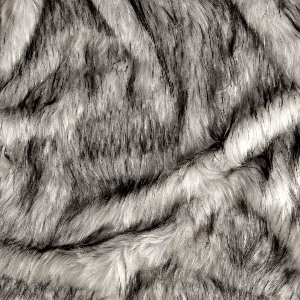 Image of Shannon Norwegian Faux Fox Fur Steel Fabric