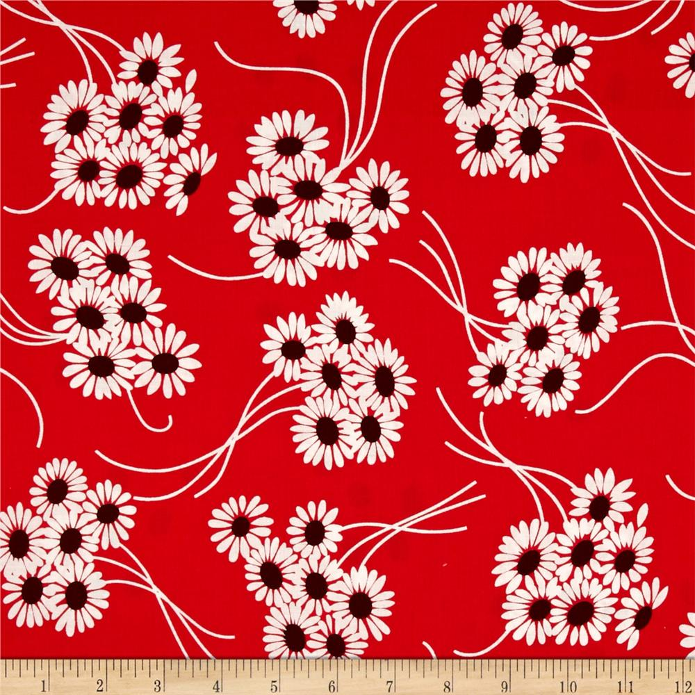 Denyse Schmidt Katie Jump Rope Daisy Bouquet Geranium Fabric By The Yard