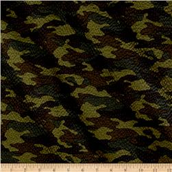 Kaufman Sevenberry Plisse Collection Camo Olive