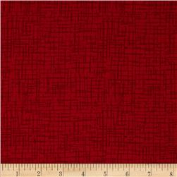 110 In. Wide Quilt Back Betula Crimson