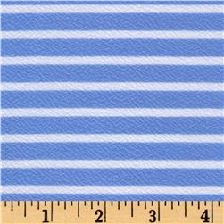 Liverpool Double Knit Horizontal Stripe Baby Blue