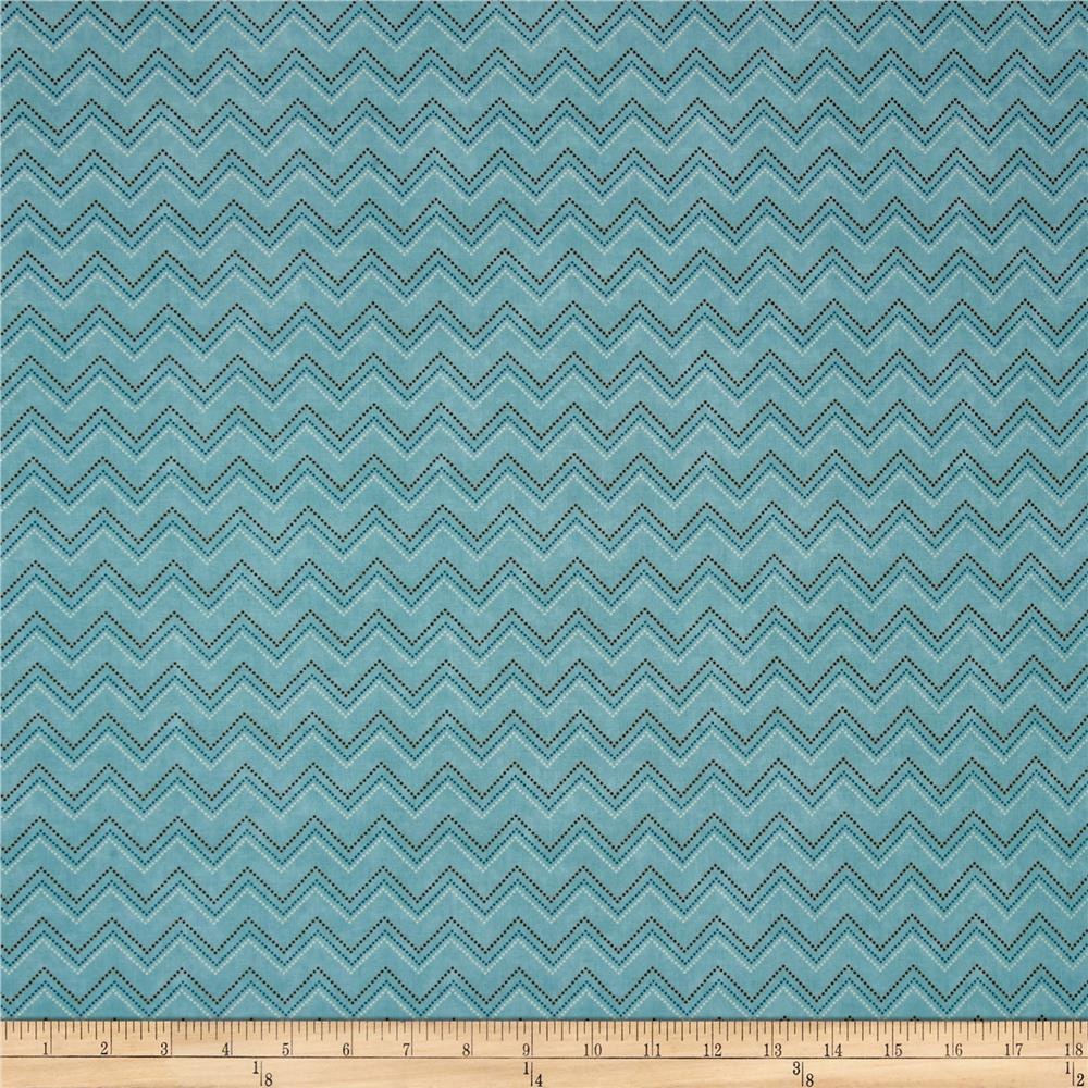 Pet Rescue Chevron Blue