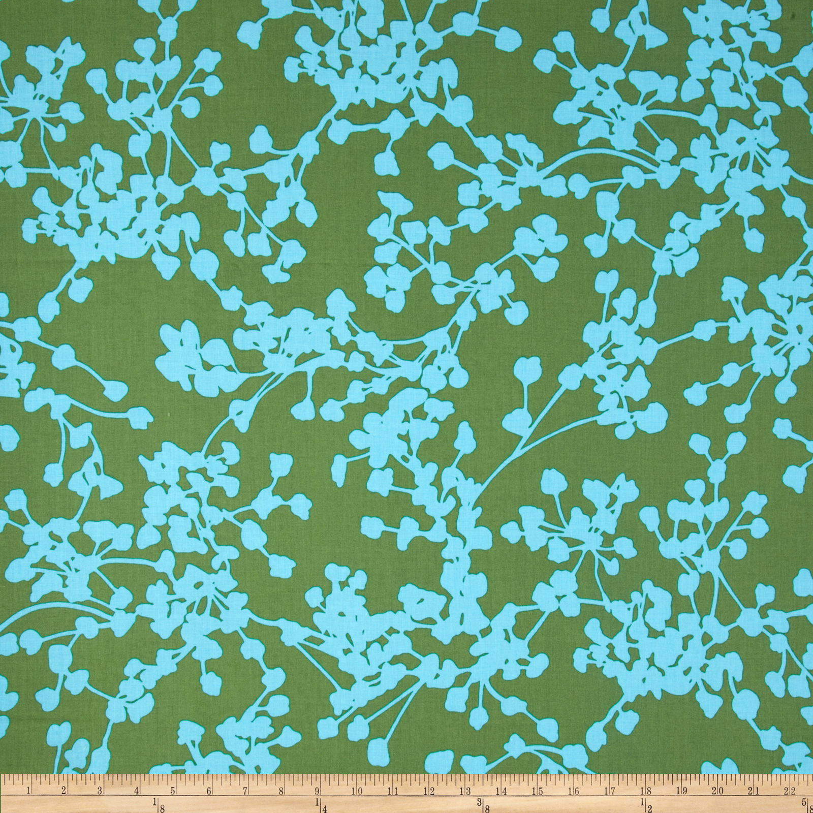 Amy Butler Belle Coriander Sea Grass Fabric