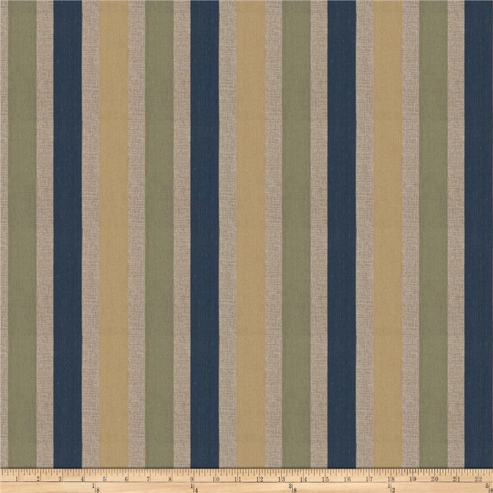 Fabricut Tailored Stripe Jacquard Marine