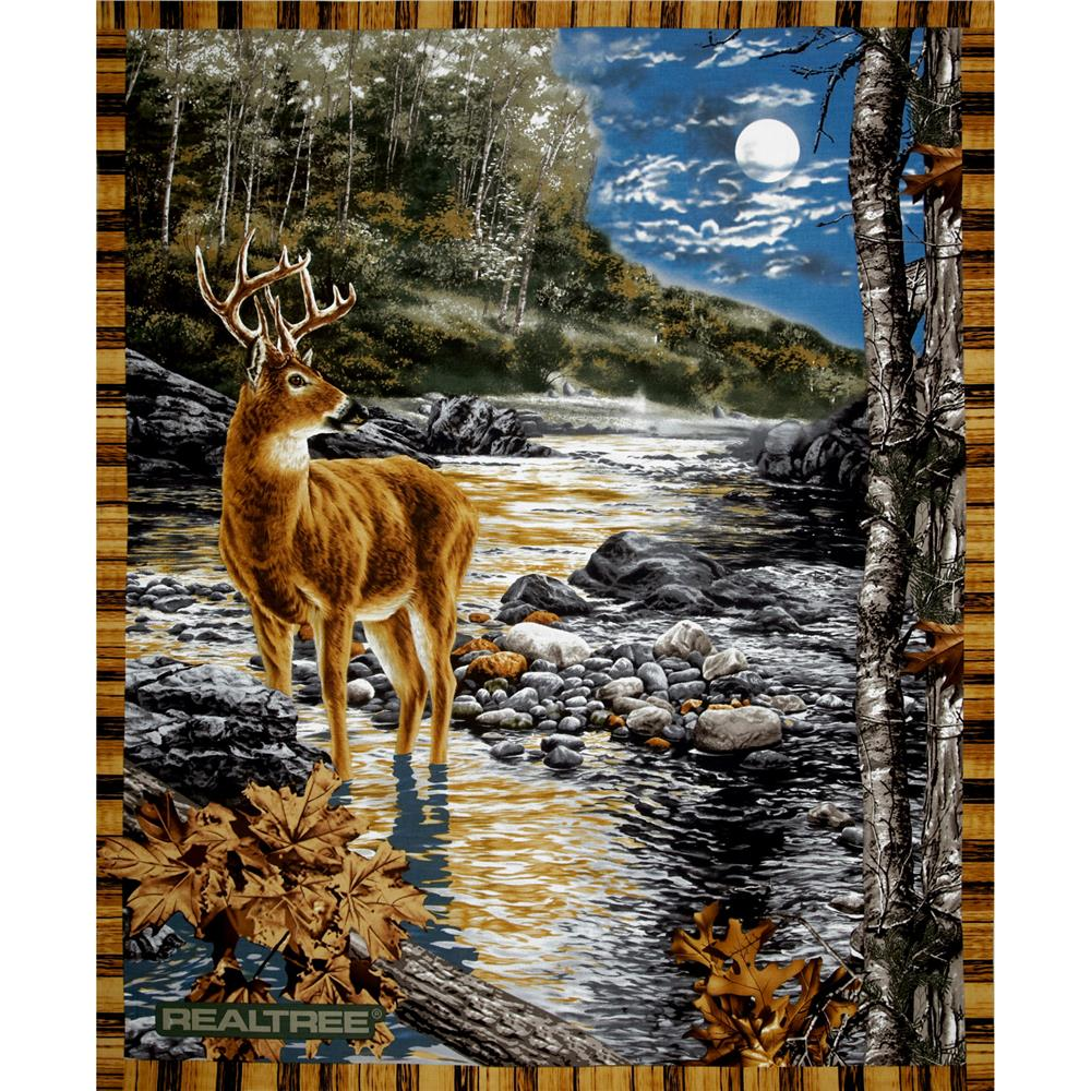 Realtree Deer in the Moonlight Panel Multi