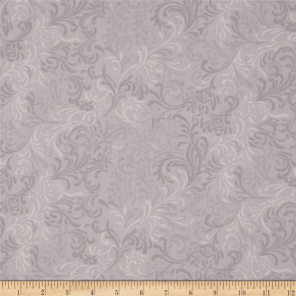 "108"" Essential Flourish Quil Back Gray"