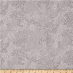 "108"" Essential Flourish Quilt Back Gray"
