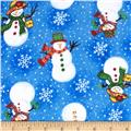 Flannel Tossed Snowlady Blue