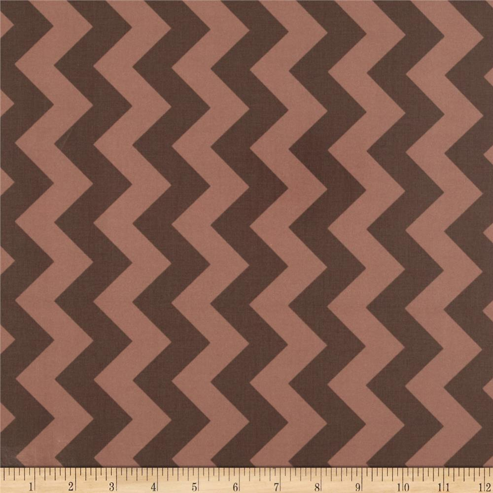 Riley Blake Laminated Cotton Medium Chevron Tone on