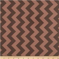 Riley Blake Laminated Cotton Medium Chevron Tone on Tone Brown