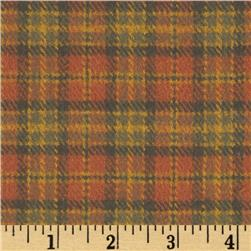 Primo Plaids Harvest Flannel Small Plaid Rust Fabric