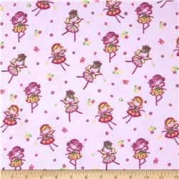 Comfy Flannel Flower Fairy Pink