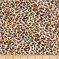 Charmeuse Satin Leopard Brown/Black