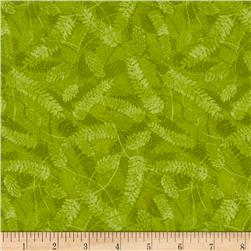 Autumn in the Forest Fern Lime Green