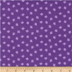 Welcome to My World Hash Tag Purple Fabric
