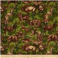 Timber Lodge Flannel Forest Animals Nature