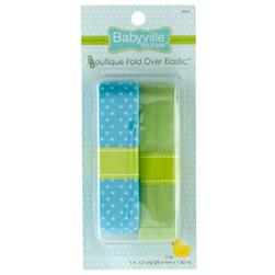 Babyville Boutique Fold Over Elastic Blue/Green