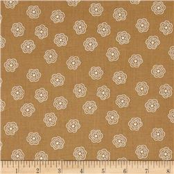 Riley Blake Bee Basics Blossom Nutmeg