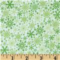 Riley Blake Home for the Holidays Flannel Flake Green