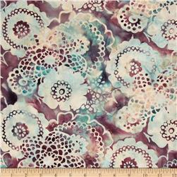 Bali Batiks Scalloped Floral Rose Fabric
