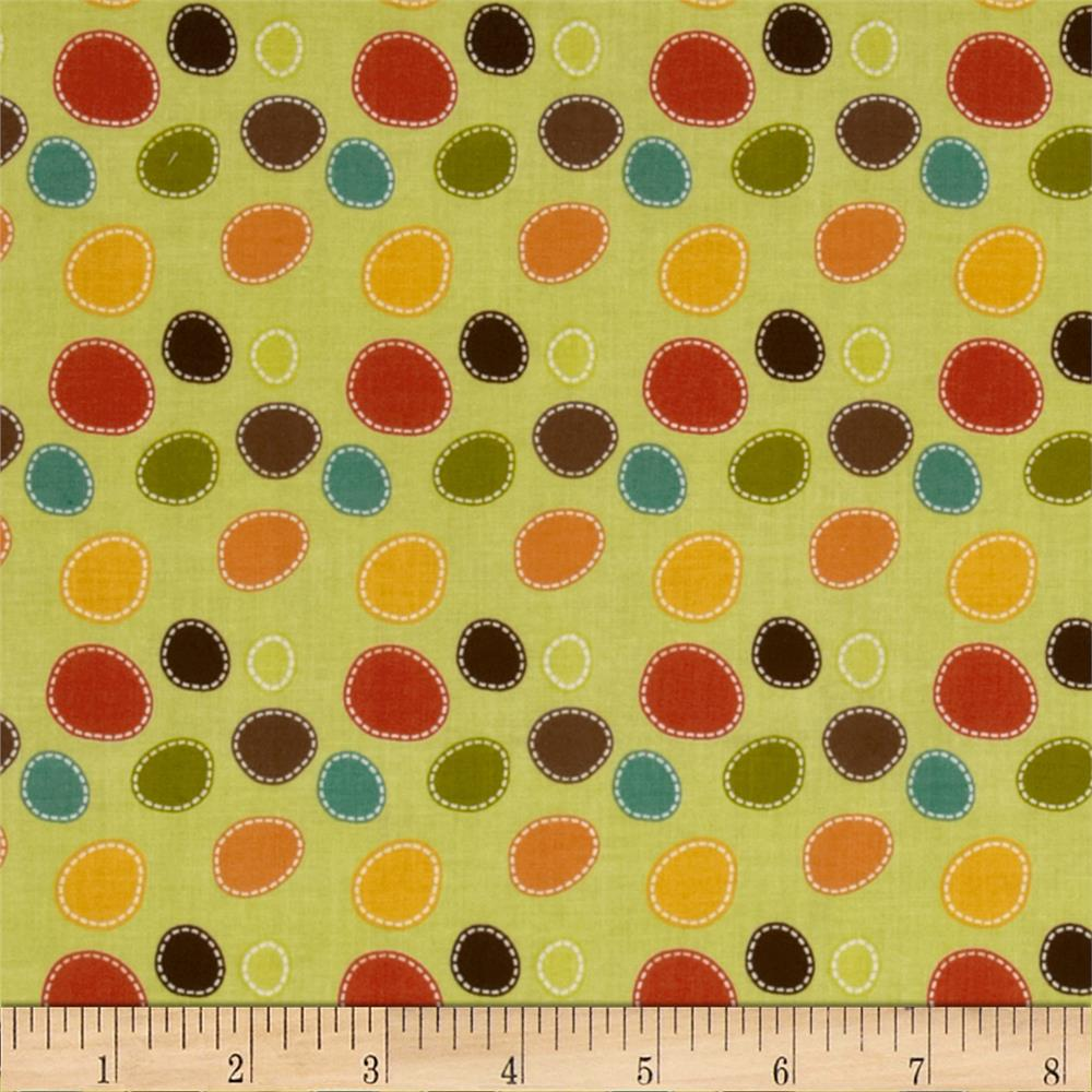 Riley Blake Giraffe Crossing Giraffe Dots Green
