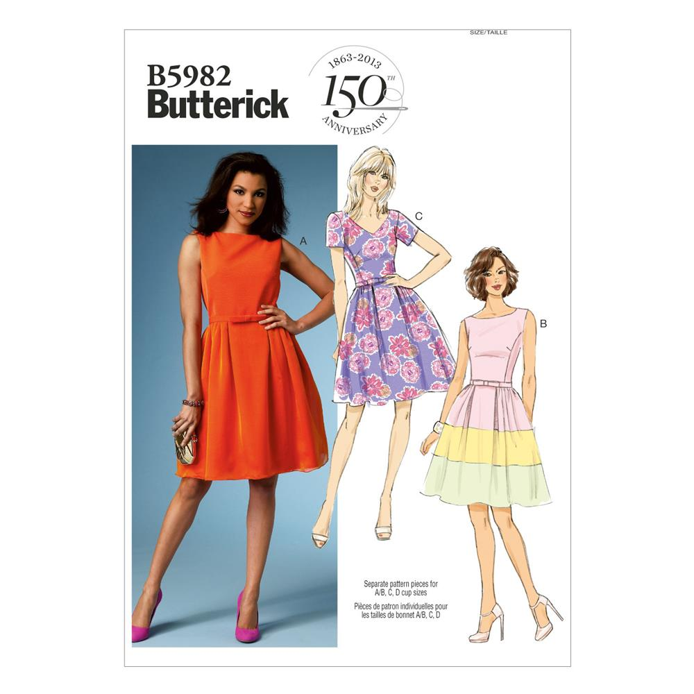 Butterick Misses'/Misses' Petite Dress and Belt Pattern B5982 Size B50