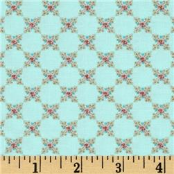 Moda Kindred Spirits Small Rose Aqua
