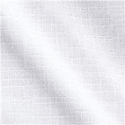 Crosshatch Nylon Drapery Sheers White