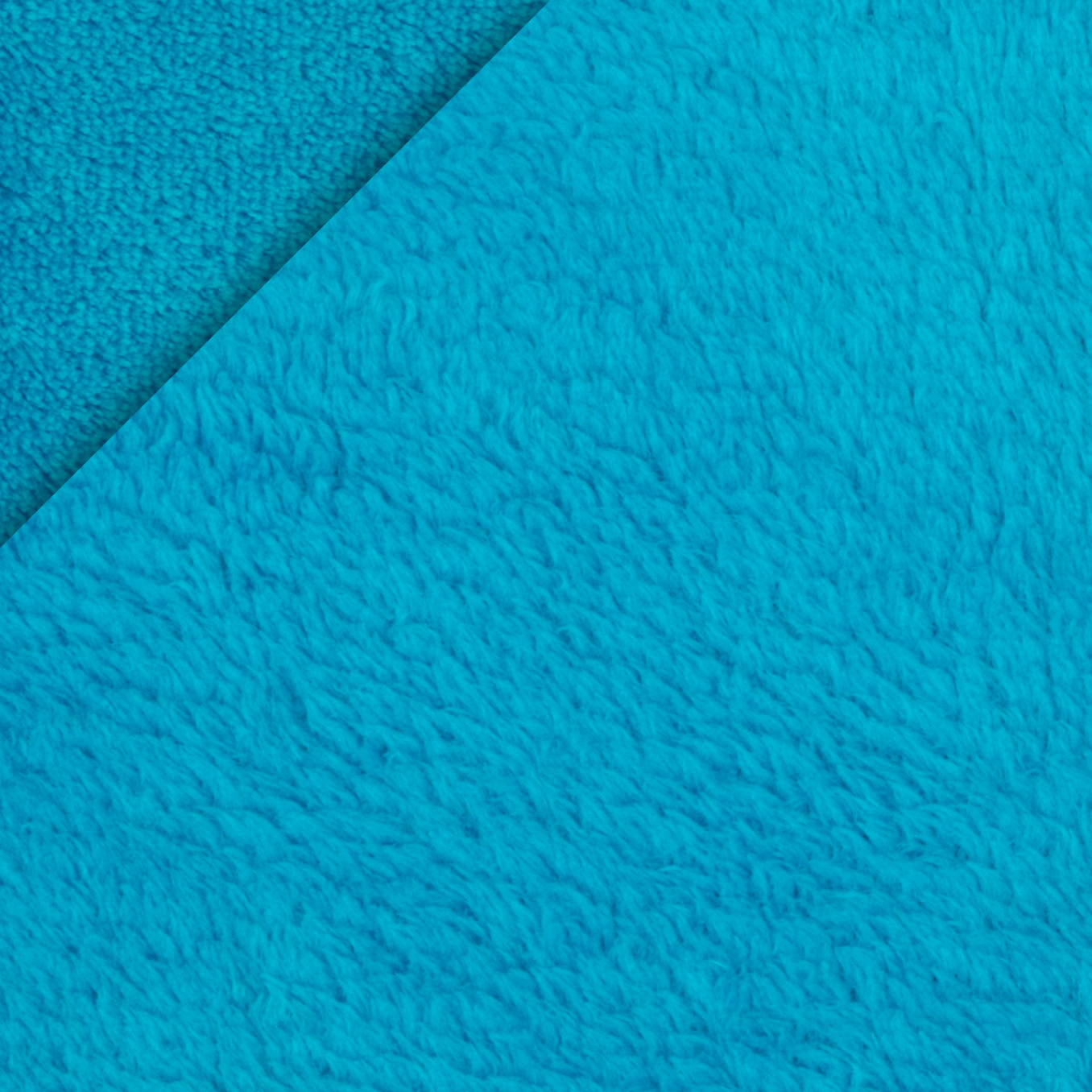 Double-Sided Minky Fleece Dark Turquoise Fabric
