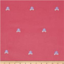 Embroidered 21 Wale Corduroy Carriage Hot Pink/Purple