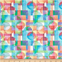 Kanvas Blocks Of Brillance Circle & Square Collage White/Pastel