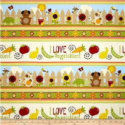 Springtime Garden Repeating Stripe Cream/Multi