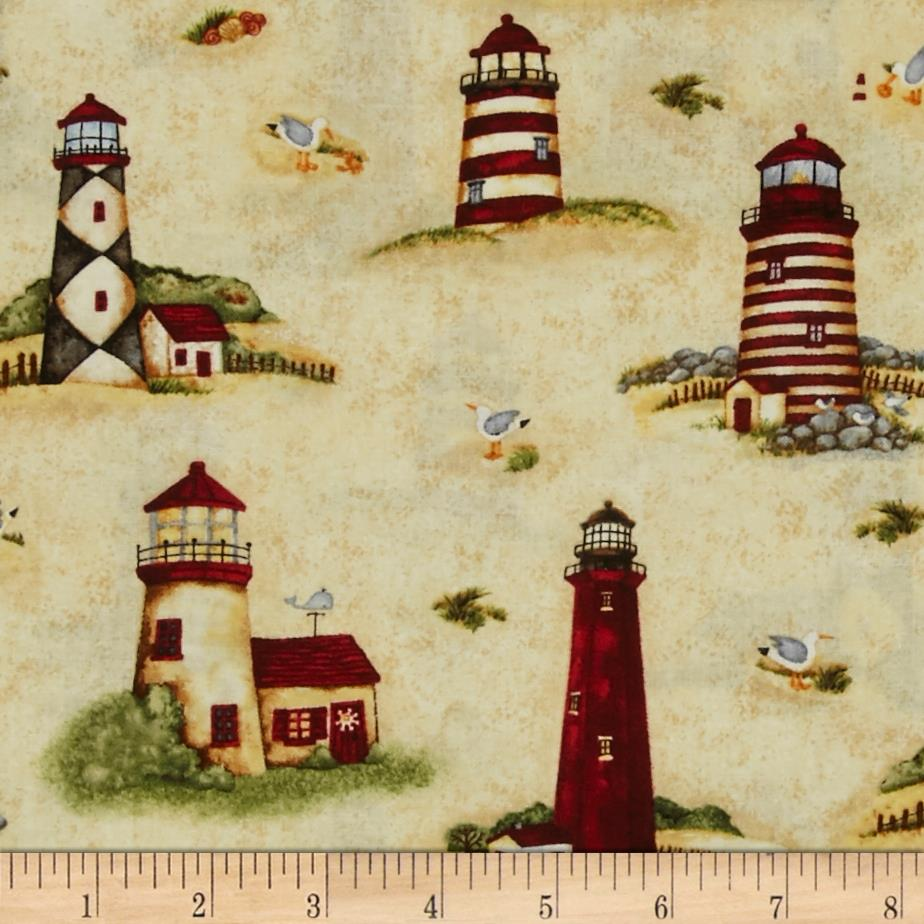 Country Lighthouses All-over Beige