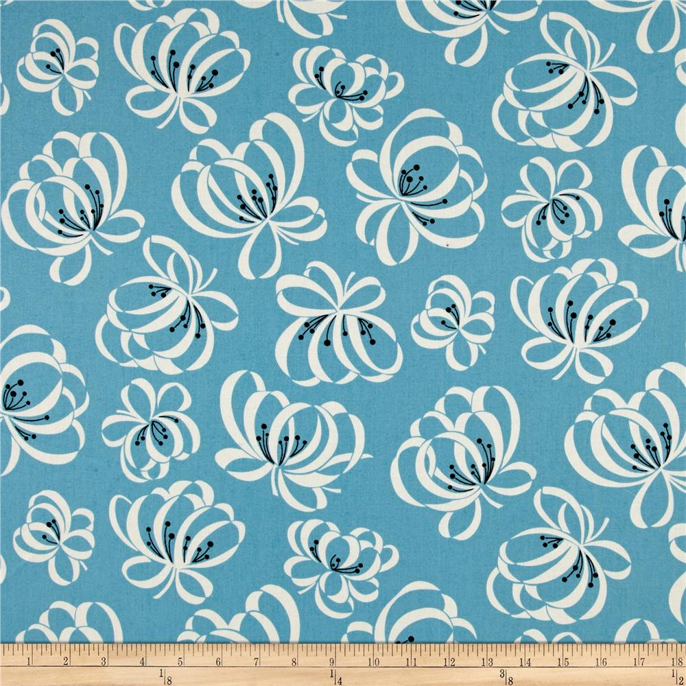 Denyse Schmidt Jump Rope Ribbon Floral Allure Fabric By The Yard