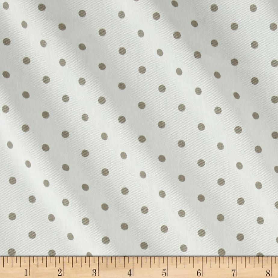 Premier Prints Mini Dot Twill White/Ecru