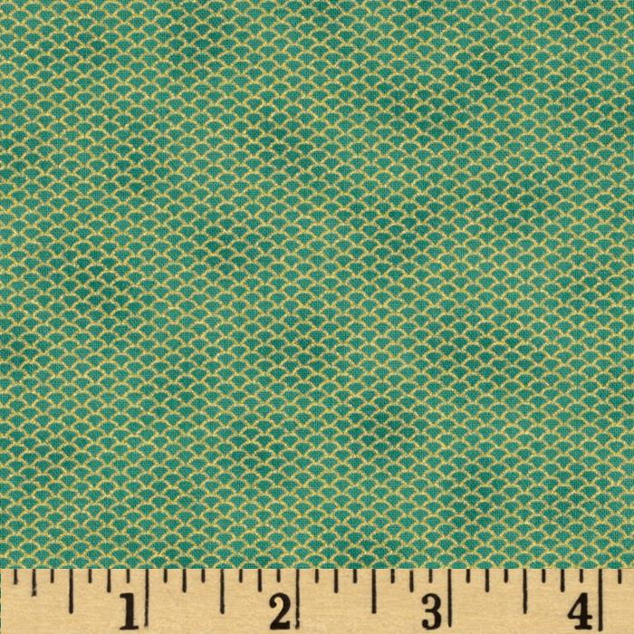 Florence Metallic Mini Mesh Teal