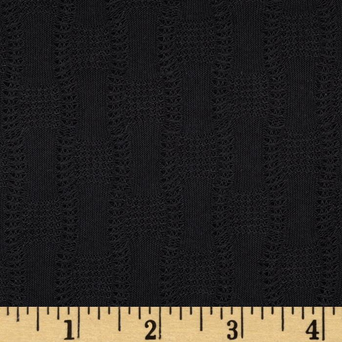 Lace Rayon Blend Sweater Knit Black